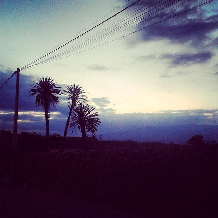 Foto dalla Colombia, sud America, tramonto Villa de Leyva atardecer sunset