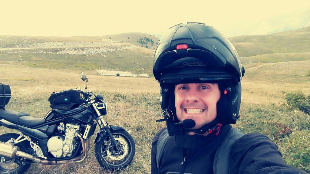 scatto durante un viaggio in moto in Italia