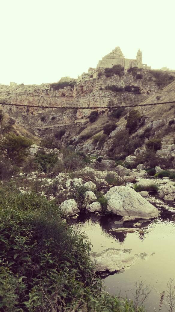 ponte sospeso parco dalla murgia