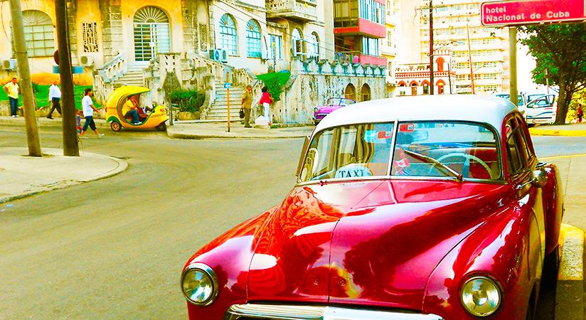 Cuba, macchina d'epoca