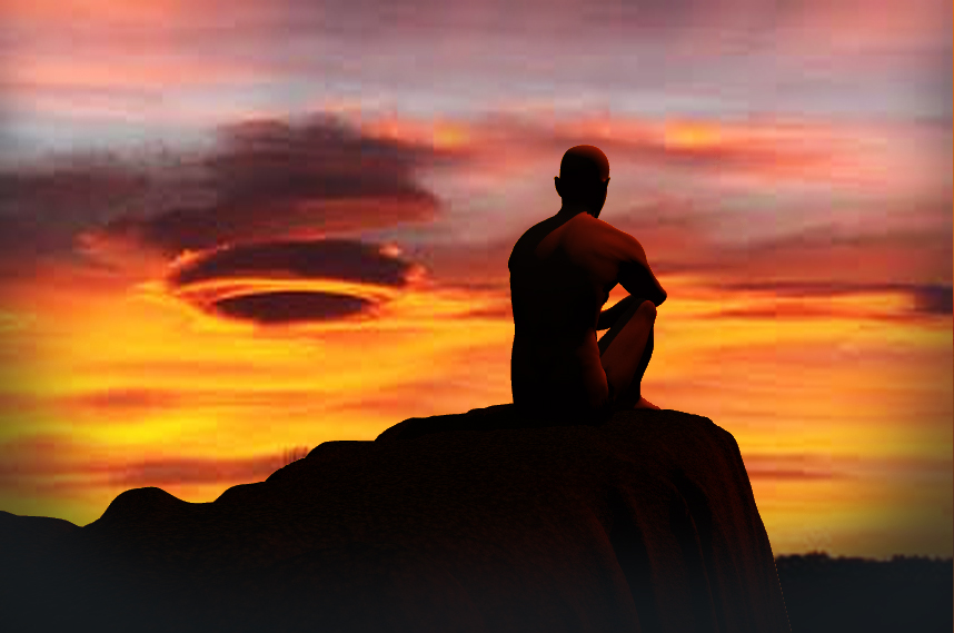 meditando al tramonto