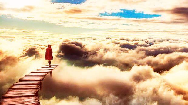 cammino in mezzo alle nuvole