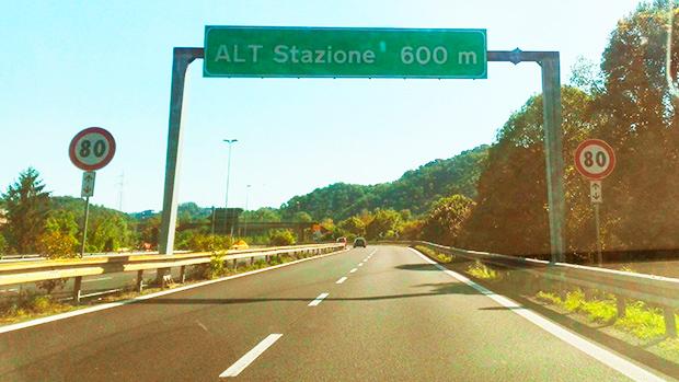 Cartello del Casello Autostrada