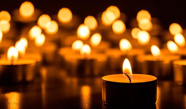 candele per meditare