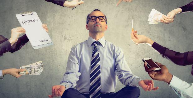 non avere tempo per meditare