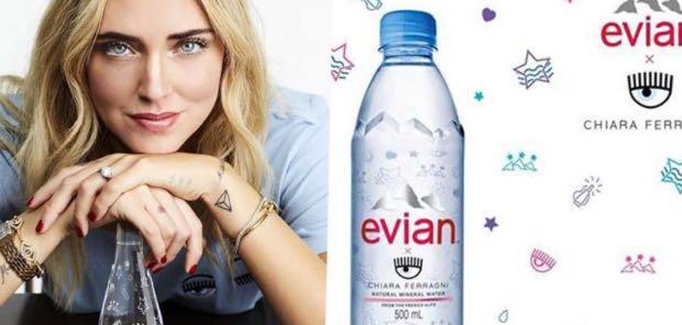 chiara ferragni Evian 8€